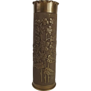 WW1 Trench Art Decorated Shell Case