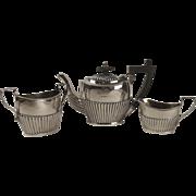 Birmingham 1924 Three Piece Silver Tea Set