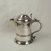 Early Georgian Silver Lidded Jug Tankard By Francis Spilsbury 1734