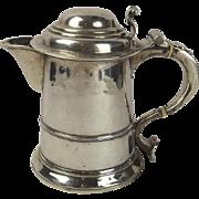 Early Georgian Silver Lidded Jug Tankard By Francis Spilsbury 1734