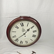 1933 British Civil/Military Authority Fusee Wall Clock By Stockhall Marple & Co