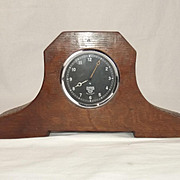 Circa WW1 Aviation Mantle Clock Made From A Cockpit Clock