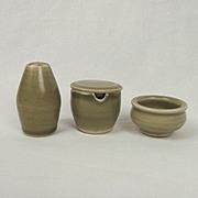 Bernard Leach Studio Pottery Three Piece Cruet Set