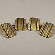 Pair Of 10ct Gold Fronted Cufflinks