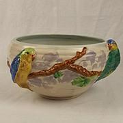 Clarice Cliff Ceramic Budgerigars Fruit Bowl c1930's