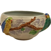 Clarice Cliff Ceramic Budgerigars Fruit Bowl c1930's