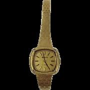 9ct Yellow Gold & Diamond Ladies Accurist Wrist Watch c1979