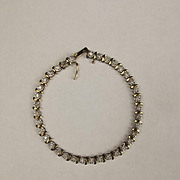 9ct Yellow Gold Diamond Tennis Bracelet