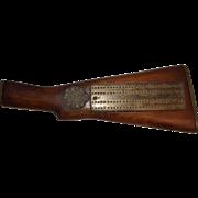 WW2 Era Lee Enfield Rifle Stock Cribbage Board