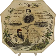 Circa 1887 Plate Commemorating The Emin Pasha Relief Expedition