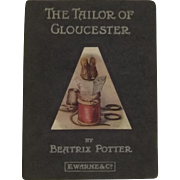 First Trade Edition Of The Tailor Of Gloucester By Beatrix Potter 1903