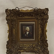 Framed Oil On Porcelain Portrait Miniature Of Lord Nelson By Richard Cosway