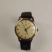 Gents Gold Plate & Steel Seamaster Wrist Watch