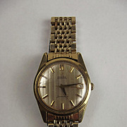Omega Seamaster Gold Plate & Stainless Steel Wrist Watch