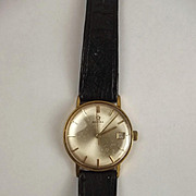 Gents Gold Plate & Steel Omega Wrist Watch