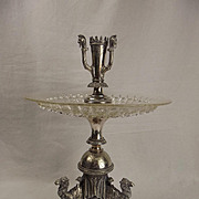 Camel Silver Plate & Glass Centrepiece c1865
