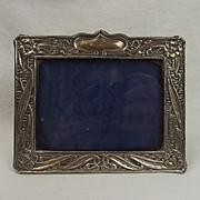 Silver Plate Art Nouveau Picture Frame