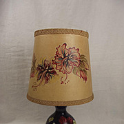 Moorcroft Hibiscus Pattern Small Lamp With Hand Painted Shade