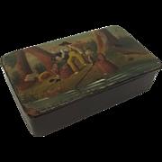 Victorian Paper Mache Snuff Box