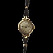 9ct Gold Cased Ladies Cocktail Wrist Watch