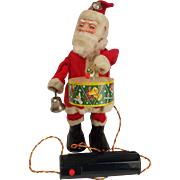 Mid 20th Century Japanese Battery Operated Tin Toy Santa