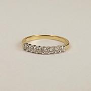 9ct Yellow Gold Diamond Ring UK Size K US 5 ¼