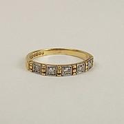 18ct Yellow Gold Diamond Ring UK Size K US 5 ¼