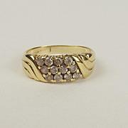 18ct Yellow Gold Cubic Zirconia Ring UK Size Q+ US 8 ¼