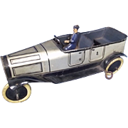 c1915 Burnett Tinplate Touring Car & Chauffeur