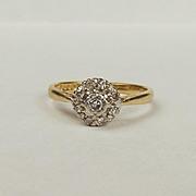 18Ct Yellow Gold Diamond Ring UK Size L+ US 5 ¾