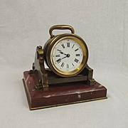 French Brass Mortar Clock Circa 1850