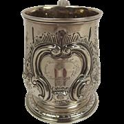 George II Silver Christening Mug London 1731