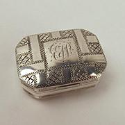 Circa 1803 George III Silver Vinaigrette