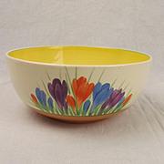 Circa 1930's Clarice Cliff Spring Crocus Pattern Bowl