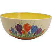 Circa 1930's Clarice Cliff Autumn Crocus Pattern Bowl