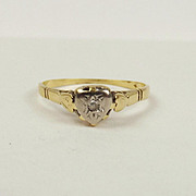 18ct Yellow Gold Diamond Ring UK Size N US 6 ½
