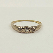 18ct Yellow Gold Three Stone Diamond Ring UK size N+ US size 7