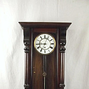Eight Day Vienna Walnut Wall Clock c1900