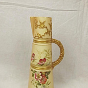 1899 Royal Worcester Blush Ivory Claret Jug