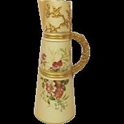 1899 Royal Worcester Blush Ivory Claret Jug