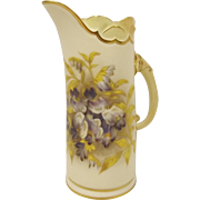 Small Royal Worcester Blush Ivory Jug
