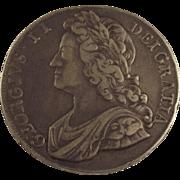 George II 1741 Crown Coin
