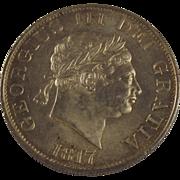 1817 George III Half Crown Coin