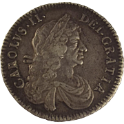 1671 Charles II Half Crown