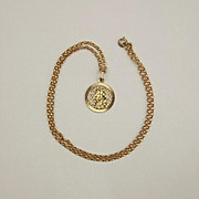 9ct Yellow Gold St Christopher Pendant & Chain