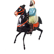 Gunthermann (Germany) Tinplate Clockwork Arab On Horseback, c.1930's