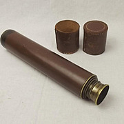 Four Draw Brass Telescope By Britex Universal X25 - X40