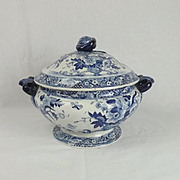 19th Century Pearlware Pottery Tureen With Cover #2