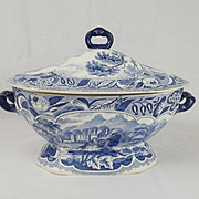 Early 19th Century Pearlware Pottery Covered Tureen