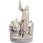 Victorian Parian Ceramic Religious Figural Group Of Abraham And Isaac